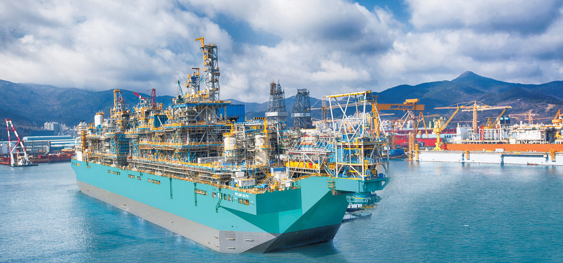 Mampaey floating LNG unit offshore Malaysia